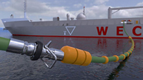 loading bunkering supply hose chemical flexible fittings hydrocarbon acid fuel oil industrial ship to shore