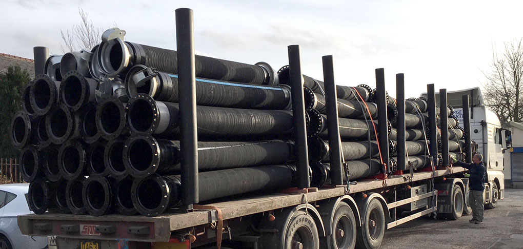 rubber hose large bore 12 inch flexible industrial swaged swager water fuel oil WRAS flood bauer dallai suction discharge