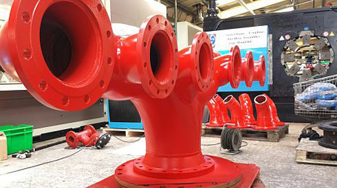 fire hydrant distribution manifold swivel firefighting protection tank hose fluidic water flanged adaptor
